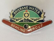Brisbane Water RSL Bowling Group Club Badge Pin Vintage Lawn Bowls (L36)