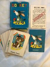 More details for antique 1950s children's donkey card game