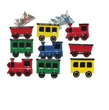 Brads - Train engine and carriage boy - pk 3 - scrapbooking