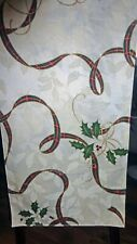 """Lenox Holiday Nouveau Decorative Table Runner, 14"""" X 90"""", NEW"""