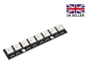 WS2812B 8 Bit 5V LED RGB Pixel Strip for Arduino, Raspberry Pi etc