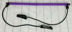 Lot of 3 Pilates Bars / Rods / Sticks & Bonus Resistance Band Portable Exercise