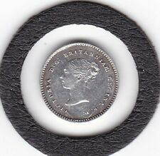 Sharp  1873   Queen  Victoria   Maundy   Two  Pence  (m2d)  Coin  (92.5% Silver)