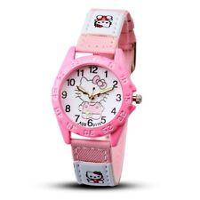 Hello Kitty Children's Fashion Watch Girls Cartoon Pink Red Hot Pink Bands W2C
