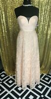 NWT Aidan Mattox Womens Pink Rose Corsage Strapless Evening Prom Dress Gown 2