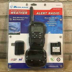 MIDLAND Portable Emergency Weather Alert Radio HH54VP2 Value Pack