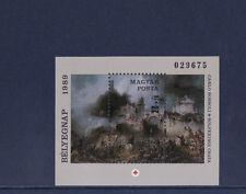 Hongrie  bloc   journée du timbre  croix rouge     1989  num: BF 206  **