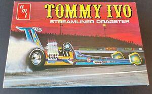 48 year old AMT TV Tommy Ivo Streamliner Dragster Model Kit - MINT!