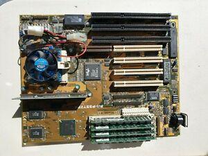 ASUS P/I-P55T2P4 SOCKET 7 SIMM PCI ISA AT + Pentium 100MHz CPU + FAN + 64MB RAM