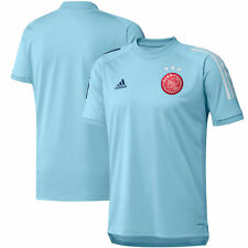 adidas Ajax Training Shirt - Blue Mens Short Sleeve Round Neck