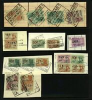 Belgium 1952/61 Range of Revenues Tied to Pieces with Fine Cancellations Values
