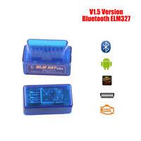 ELM327 v1.5 OBD2 Bluetooth Code Reader Scanner Diagnostic ANDROID TORQUE New