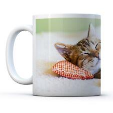 Awesome Sleeping Kitten - Drinks Mug Cup Kitchen Birthday Office Fun Gift #8265