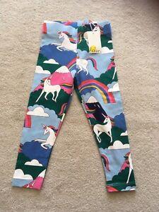 BNWT Boden Girls Rainbow Unicorn Leggings 2-3 Years