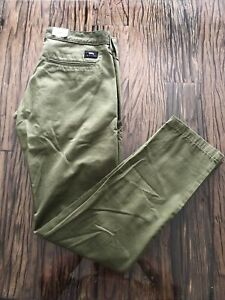 BNWT Edwin Military Green 55 Chino 9oz Rinsed Cotton W31 L32