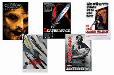 TEXAS CHAINSAW MASSACRE - SET OF 5 - A4 FILM POSTER PRINTS # 1