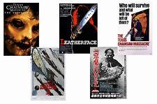 TEXAS CHAINSAW MASSACRE - SET OF 5 - A4 FILM POSTER PRINTS # 1