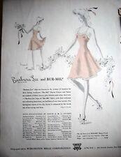 1942 Barbara Lee y Bur-Mil Rosa Desliza Lencería Anuncio