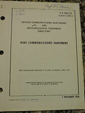 Ground Communications,Electronic & Meteorological Equipment Directory dated 1958