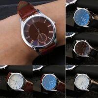 Men Women Fashion Geneva Roman Numerals Faux Leather Analog Quartz Wrist Watch