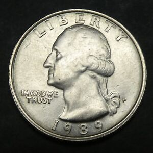 1989 25C Washington Quarter Error Coin Short 9