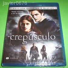 CREPUSCULO BLU-RAY NUEVO Y PRECINTADO EDICION ESPECIAL 2 DISCOS