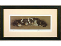 Mick Cawston - 'Worn Out' - Limited Edition Signed Print. Border Collies / Puppy