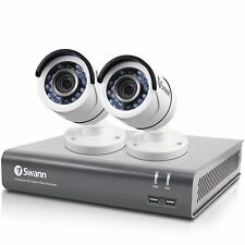 New Swann SWDVK-445752-LW 4 Channel 1080p Security System & 2x 1080p Cameras