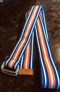 Mens Polo RL Fabric Belt Blue/Orange/White Size L