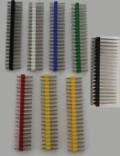 """2x20 40 Pin Header for Pi Zero GPIO 2.54mm 0.1"""" Pitch Black/Colors USA/Comb Ship"""