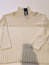 Ralph Lauren Turtleneck Sweater Womens Cotton Linen Blend White Fisherman S NWT