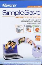 New Memorex SimpleSave Photo Video Back-Up Disc DVD Recordable Media Automatic