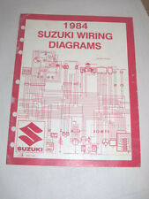 Official 1984 Suzuki Wiring Diagram Manual E Model Motorcycle