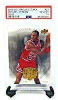 2009 UD Jordan Legacy GOLD Bulls MICHAEL JORDAN Card PSA 10 GEM MINT / Pop 3