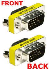 VGA Joiner Coupler Gender Changer Adaptor Converter Male to Male Cable Extender