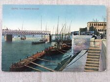 CAIRO The Opened Bridge Camp Cesar Alexandria Egypt Vintage Postcard 1910 Color
