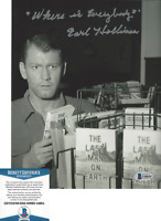 EARL HOLLIMAN SIGNED 'THE TWILIGHT ZONE' 8x10 SHOW PHOTO 3 ACTOR BECKETT COA BAS