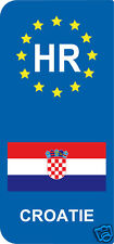 2 Stickers Europe CROATIE HR