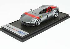 #CAR60 BBR Ferrari Monza SP1-Titanium Silver and Red Stripe - 1st USA - 1:43