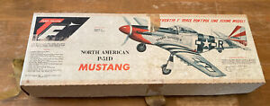 "Top Flite P-51D Mustang RC Airplane UNBUILT In Box 37"" Wingspan Balsa Wood Model"