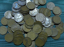 1912(P) Lincoln Wheat Cent FULL ROLL average circulated penny $2.99 combined S&H