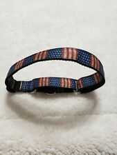 "Omies Large/Xlarge Safety""US FLAG"" Themed Martingale Pet Dog Collar 18""- 31"" USA"