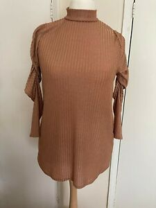 Yours clothing size 18 used ladies jumper rose gold