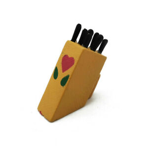 Dollhouse Miniature Cookware Toolframe Knife Set 1:12 Kitchen Accessories