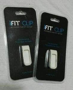 Lot of 2 iFIT Clip White for iFIT Activity Tracker Pod