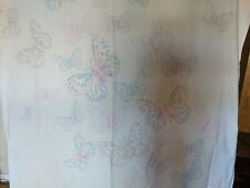 Pottery Barn Kids Butterfly Shower Curtain 72x72 inch NWOT 100% Cotton