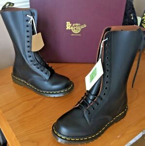 Dr Martens 1914 black quilon leather boots UK 5 EU 38 Made in England