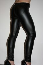 Lederhose Leder Leggings Kunstleder Hose Schwarz Freddy WR.UP Gr. L, low waist