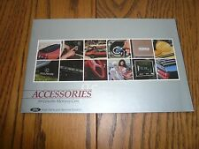 1985 Lincoln Mercury Accessories Sales Brochure - Vintage