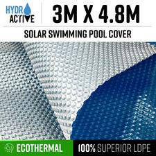 3x4.8m UV Stabilised Solar Swimming Pool Cover 400 micron outdoor Bubble Blanket